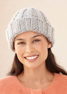 bd0c81c6b754f Loom Knit Cable Hat And Wristers Gorros