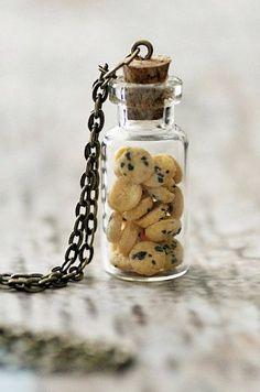 Cookie Jar Necklace. Miniature Food Jewellery