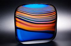 The Skyline series by Peter Layton, is testament to his uncanny ability to evoke a strong passionate emotional response and clearly defines him, as the preeminent master of the hot glass medium. I love his work! Slumped Glass, Fused Glass, Cast Art, Corning Museum Of Glass, Glass Vessel, Modern Glass, Tile Art, Orange, Glass Design