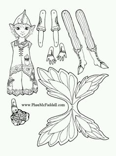 Flicker Fairy Puppet coloring and craft Project www