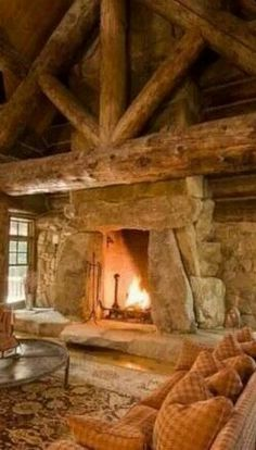 The Round Fireplace Opening Is So Welcoming Love It