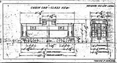 PRR N5B CABOOSE DRAWING 1B c