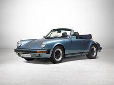Porsche 911 3.2 l Convertible, Special Finish Iris Blue, 1986