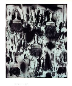 "Saw this in person, was super cool - Jim Dine ""Cobalt Teal Paint Brushes"""
