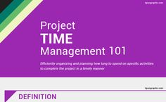 Here a concise graphic of Project Time Management 101, third PMBOKKnowledge Area you need to know for your PMP Certification Exam.