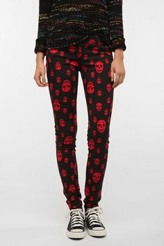 Tripp NYC Skulls Jean  #UrbanOutfitters  These are kind of awesome.