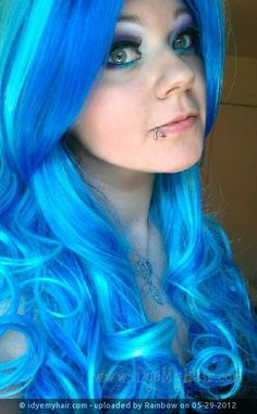 Pretty shade of blue for hair!