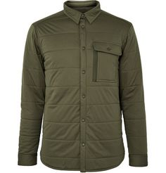 Snow PeakQuilted Stretch-Jersey Shirt Jacket