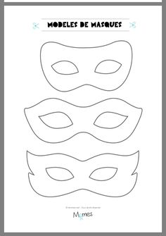 6 models of masks for the carnival - Jessica Marro - - 6 modèles de masques pour le carnaval Here are 6 models of masks to print for carnival. Carnival Outfits, Carnival Rides, Carnival Makeup, Mardi Gras, Diy With Kids, Theme Carnaval, Carnival Crafts, Halloween Disfraces, Camping Crafts