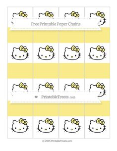 Free Pastel Yellow  Hello Kitty Paper Chains