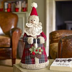 Father Christmas in home at Lakeland Christmas Makes, Noel Christmas, Father Christmas, Primitive Christmas, Retro Christmas, Country Christmas, Handmade Christmas, Christmas 2017, Christmas Bazaar Crafts