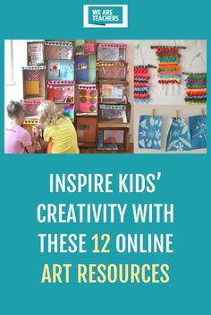 Get out the paint, markers, and crayons! Broaden the horizon with these 12 awesome online art resources. Art For Kids Hub, Art Education Resources, We Are Teachers, Art Therapy Activities, Cool Art Projects, Inspiration For Kids, Art Challenge, Art Lesson Plans, Paint Markers