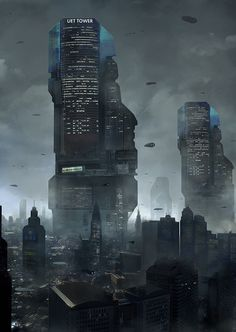 World building Part I: The (Sexy) Cyberpunk Way of Liquid Cool - Official Website of Author Austin Dragon Cyberpunk City, Ville Cyberpunk, Cyberpunk Kunst, Futuristic City, Cyberpunk 2077, Futuristic Architecture, Classical Architecture, Future City, Fantasy Landscape