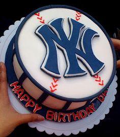 Image detail for -New York Yankees Birthday Cake Cupcakes, Cupcake Cookies, Yankee Cake, Baseball Theme Birthday, Homemade Vanilla Cake, Hat Cake, Sport Cakes, Just Cakes, Occasion Cakes