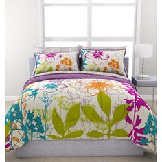 Formula Multi-Floral Reversible Bed in a Bag