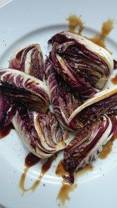 grilled radicchio with balsamic vinegar