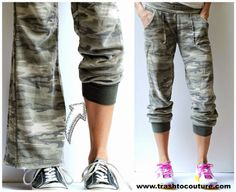 Laura's Refashioned Track Pants | Refashion Nation