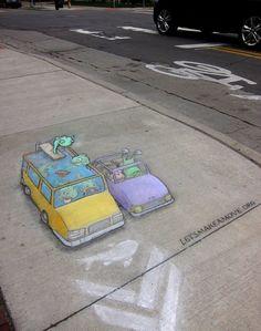 David Zinn - chalk art