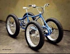 Oregon Handmade Show Contes Engineering's Fat Bike Pedal Quad, the Athos - Bikerumor Fat Bike, Baby Bicycle, Bicycle Bell, 4 Wheel Bicycle, Velo Retro, Velo Vintage, Cool Bicycles, Cool Bikes, Vespa Modelle