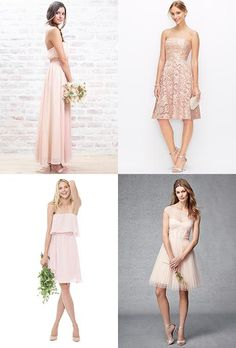 You're going to be obsessed with blush bridesmaid dresses | Brides.com