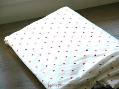 Custom Crib Sheets  in 4 Steps-so easy and can buy material to match baby's room decor