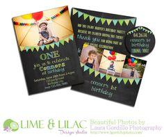 Card Template birthday card bunting banner chalk by LimeandLilac, $12.00