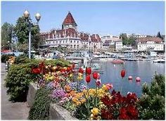 Chateau d'Ouchy at Lausanne, Switzerland...another stop on our drive around Lake Geneva, Switzerland/France