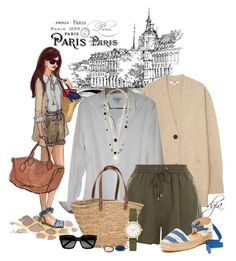 Paris by dgia on Polyvore featuring polyvore fashion style Burberry Uniqlo New Look Splendid NLY Accessories Skagen Plukka John Hardy Yves Saint Laurent clothing