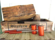 Vintage Wooden Long Handled Salt and Pepper Shakers by corrnucopia, $12.50