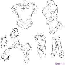 Anime body drawings