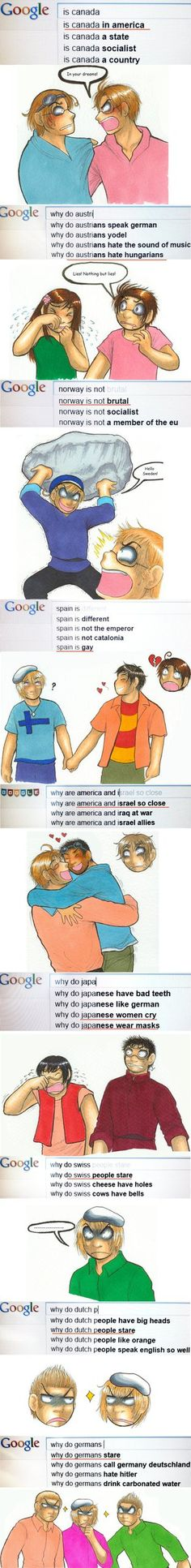 Haha , but Canada IS in America. America is a continent, not a frucking country.<<<Thank you(well I see why we call it America because USA is as you all may know stands for United States of America so they just take the last part)