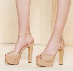 Nude platforms are a great way to elongate your legs! I have these are they are so comfy & sexy!