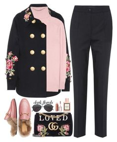 """Fleurs d'hiver"" by hollowpoint-smile ❤ liked on Polyvore featuring Dolce&Gabbana, Tomas Maier, Gucci, Illesteva and Puma"