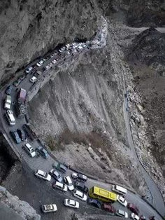 Kabul-Jalalabad Highway, Afghanistan ~ What's more dangerous than driving through mountain passes? Driving through Taliban territory of course! Combining this with hairpin turns and unthinkable falls, only the bold and brave would dare venture here.