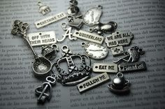 ON SALE 30 pcs. Alice in Wonderland Inspired Charms $5