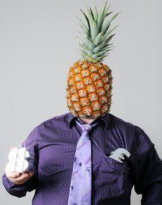 Der Ananas-Geschäftsmann.