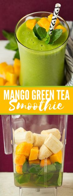 Mango Green Tea Smoothie Mango Green Tea Smoothie Indeed, even in the center of winter it's so pleasant to have a reviving and renewing smoothie! This Mango Green Tea Smoothie is the ideal lift … Green Tea Smoothie, Tea Smoothies, Healthy Breakfast Smoothies, Juice Smoothie, Smoothie Drinks, Healthy Drinks, Diet Drinks, Mango Recipes Healthy, Mango Smoothie Healthy