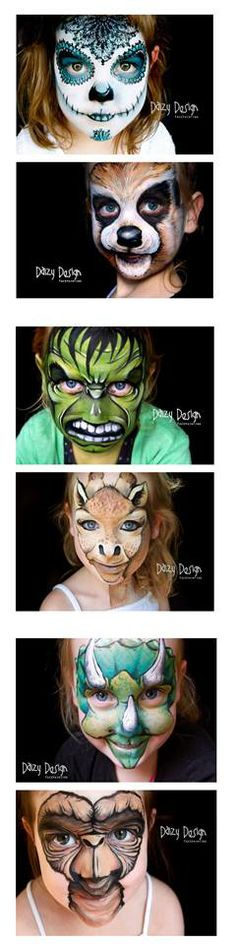 OMG - Beautiful face painting - WOW!