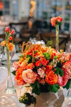 wedding centerpiece idea; photo: REBEKAH J. MURRAY PHOTOGRAPHY