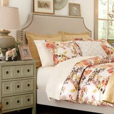 The Parker Nailhead Trim Headboard at Birch Lane.