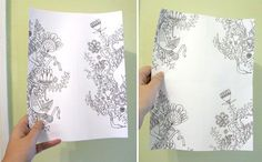 Cool Designs to Draw | Trying my Hand at Prints (or how to hand draw a pattern repeat)