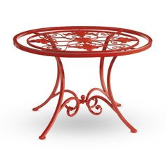 Find it at the Foundary - Red Iron Garden Table