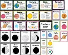 The Solar System (El Sistema Solar) - Spanish Posters by Mr and Mrs Brightside Science Notes, Cool Science Experiments, Science Fair Projects, Teaching Science, Science For Kids, Art Projects, Solar System Activities, Solar System Projects, Spanish Lessons
