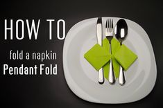 Learn how to fold a napkin into a Pendant Fold from a paper napkin. You can also use starched cloth napkins. Very simple instruction (step by step). Creative napkin folds.