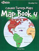 Canada Map Book 4 - Grades 5-6 - Northwoods Press Grade 3, Canada, Chart, Map, Books, Livros, Location Map, Book, Maps