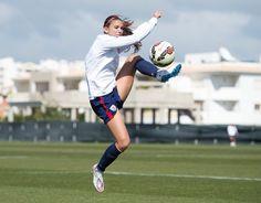 Alex Morgan, training, Algarve Cup. (U.S. Soccer)