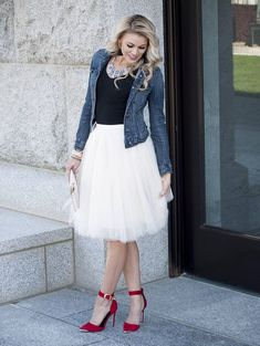 Clarisa Champagne Tulle Skirt Ivory Tulle Skirt Puffy