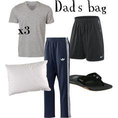 Dad's hospital bag by smcdonald, via Polyvore