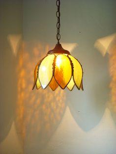 vintage tulip light fixture - BootsNGus