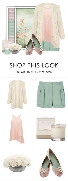 """""""#75 Pastel Flowers"""" by kelseaclark ❤ liked on Polyvore featuring Oris, Warehouse, Moschino, Forever New, Antica Farmacista, NDI, Seychelles, GreenGate, Pink and flats"""